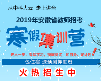 2019年安徽教师招考寒假班